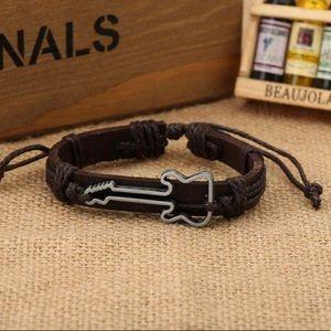 Jewelry - RESTOCKED🎸Guitar Leather Bracelet 4 Music